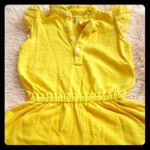 Baby Girl Polo Romper